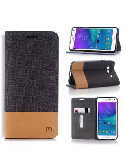 check out fbc3e 57573 Samsung galaxy E5 flip cover built-in card slots & stand with dual color